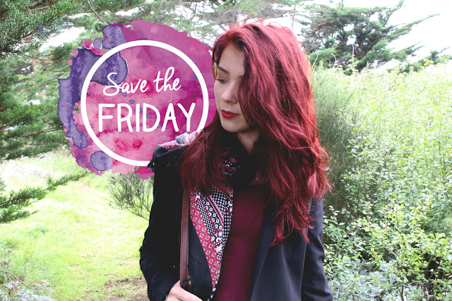 Save the friday, blogueuse, enjoyk, outfits, ootd, tenue, bordeaux, red hair, stradivarius, blazer, mango, urban outfitters, brandy melville,