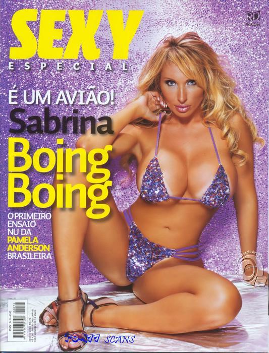 Confira as fotos do avião Sabrina Boing Boing, capa da Sexy Especial de agosto de 2008!