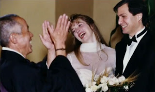 Steve Jobs and Laurene Powell in bridal dress