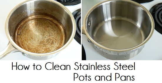 taste of august how to clean stainless steel pots and pans. Black Bedroom Furniture Sets. Home Design Ideas