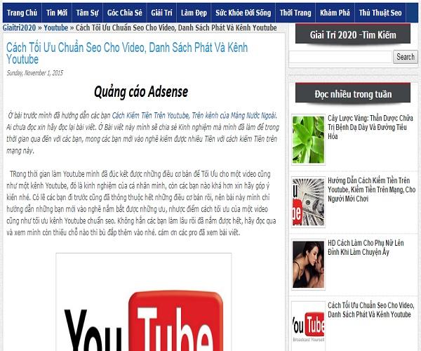 Theme Blogspot dạng tin tức chuẩn seo 2