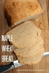 Maple Wheat Bread