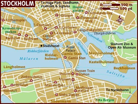 Stockholm Politiska Karta Over Staden Sverige Stadskarta Geografi