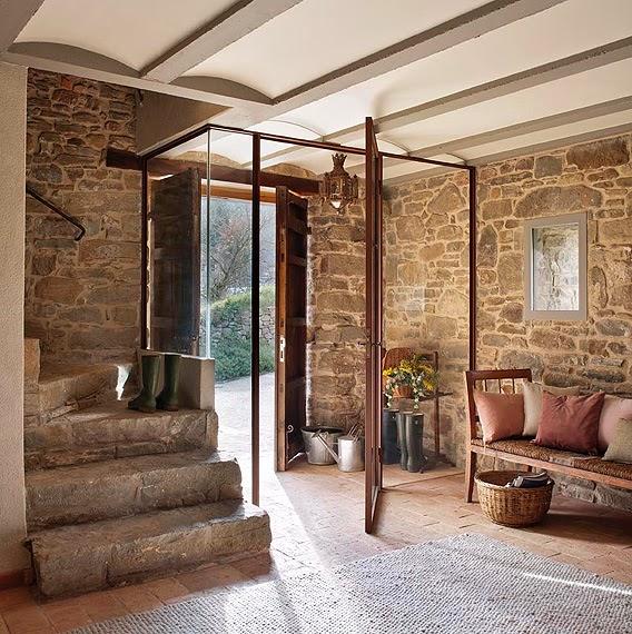 Estilo rustico casa rustica en la provenza rustic house for Casas rurales decoracion interior