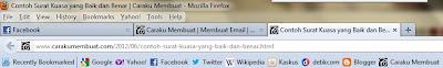 Hasil tampilan bookmark di bookmarks toolbar