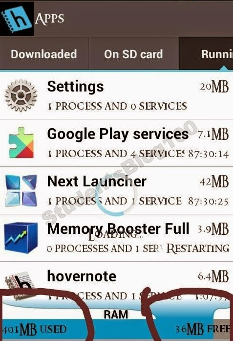 RUNNING APPS IN ANDROID