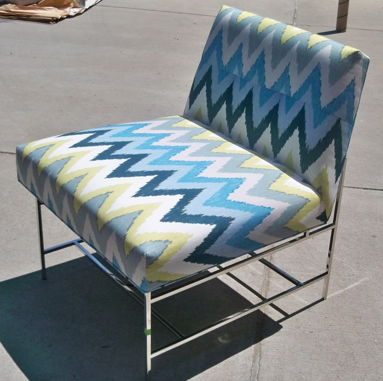 The First Chair Is From Vanguard Furniture. They Did A Great Job Using This  Wonderful Printed Ikat Pattern On Their Farris Chair. I Love The Stainless  Steel ...
