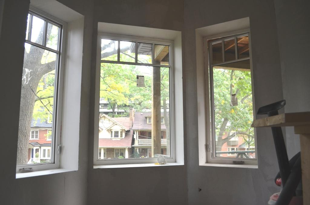 The bennett house trim less windows for How to paint wood windows interior