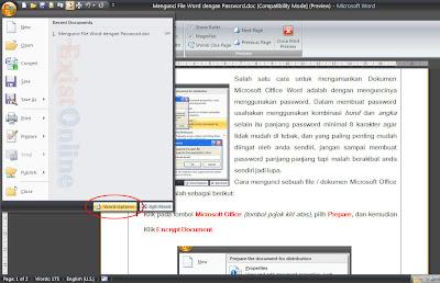 Mengatur interval AutoRecover Office 2007