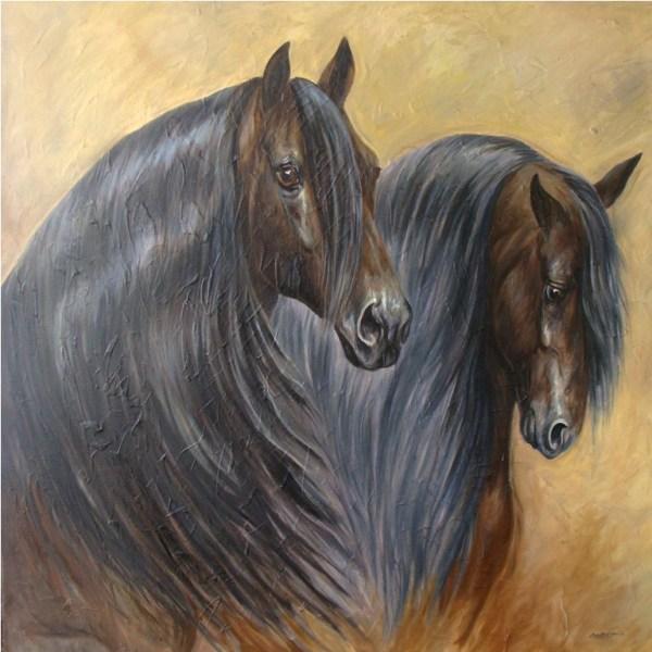 Cuadros pinturas oleos pinturas de caballos - Los cuadros mas bonitos ...