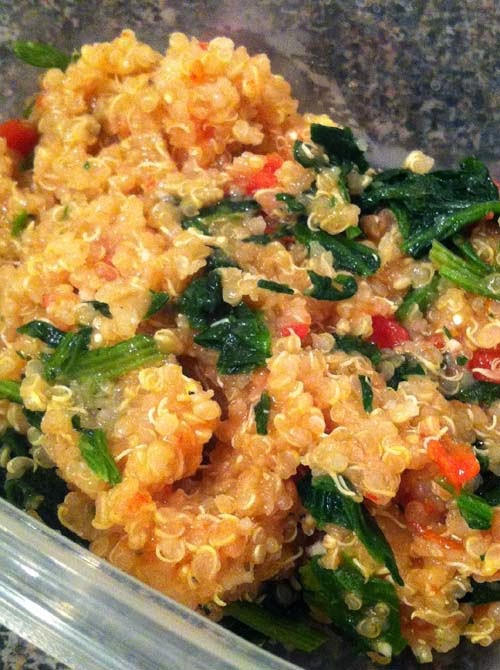 Healthy #Quinoa #Spinach Pilaf.  Click for Recipe