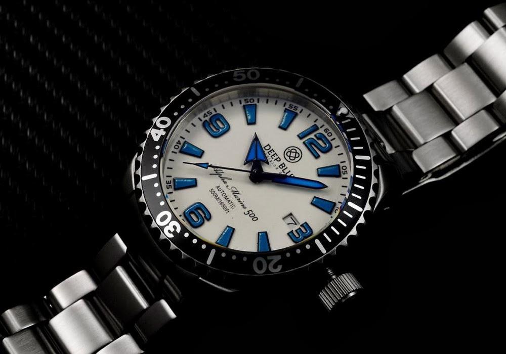 Oceanictime deep blue alpha marine 500 diver - Dive deep blue ...