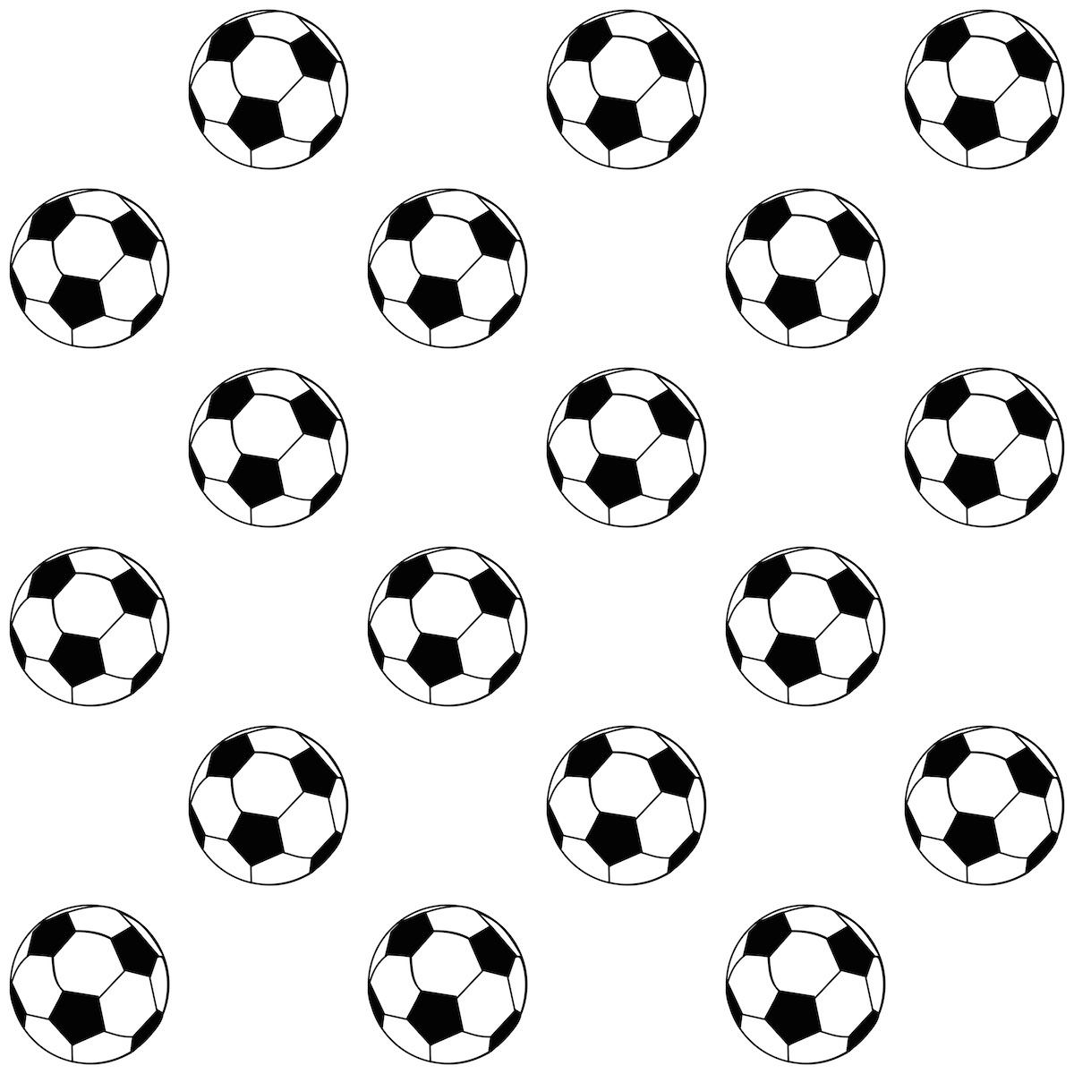 Versatile image throughout printable footballs