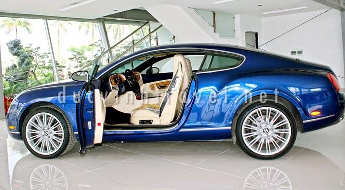 Cho thuê xe Bentley Continental GT Speed Xanh 1