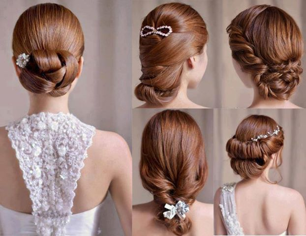 håruppsättningar kort hår bröllop