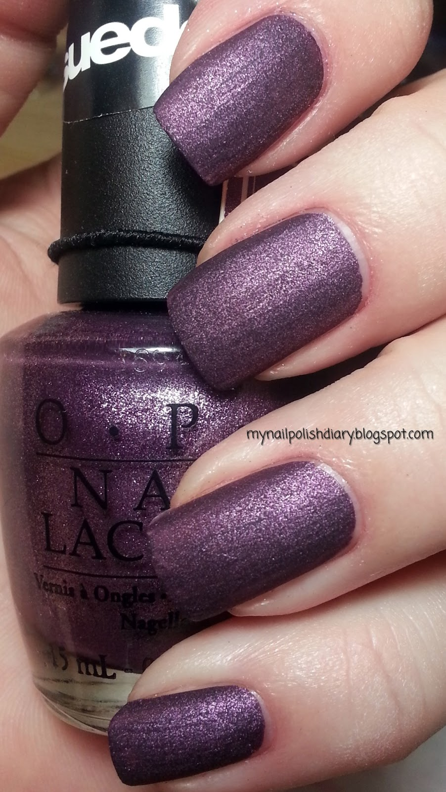 My Nail Polish Diary: OPI Lincoln Park After Dark Suede