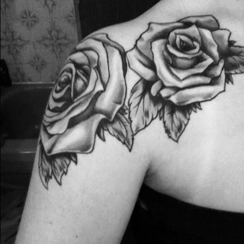 rose tattoos on shoulder tattoos facebook. Black Bedroom Furniture Sets. Home Design Ideas