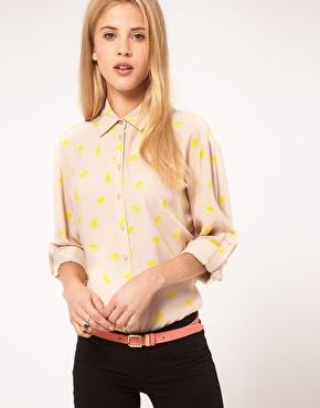 yellow elephant print shirt
