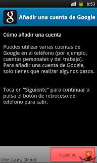 añadir cuenta google