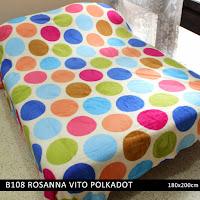 Grosir Selimut Rosanna Vito Soft Blanket Polkadot