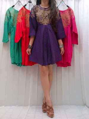 Dress atau Blouse Rayon Bordir