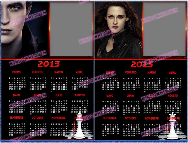 calendarios 2013 twilight crepusculo el amanecer