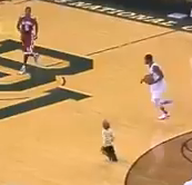 Little kid runs onto court during Baylor vs Oklahoma basketball game