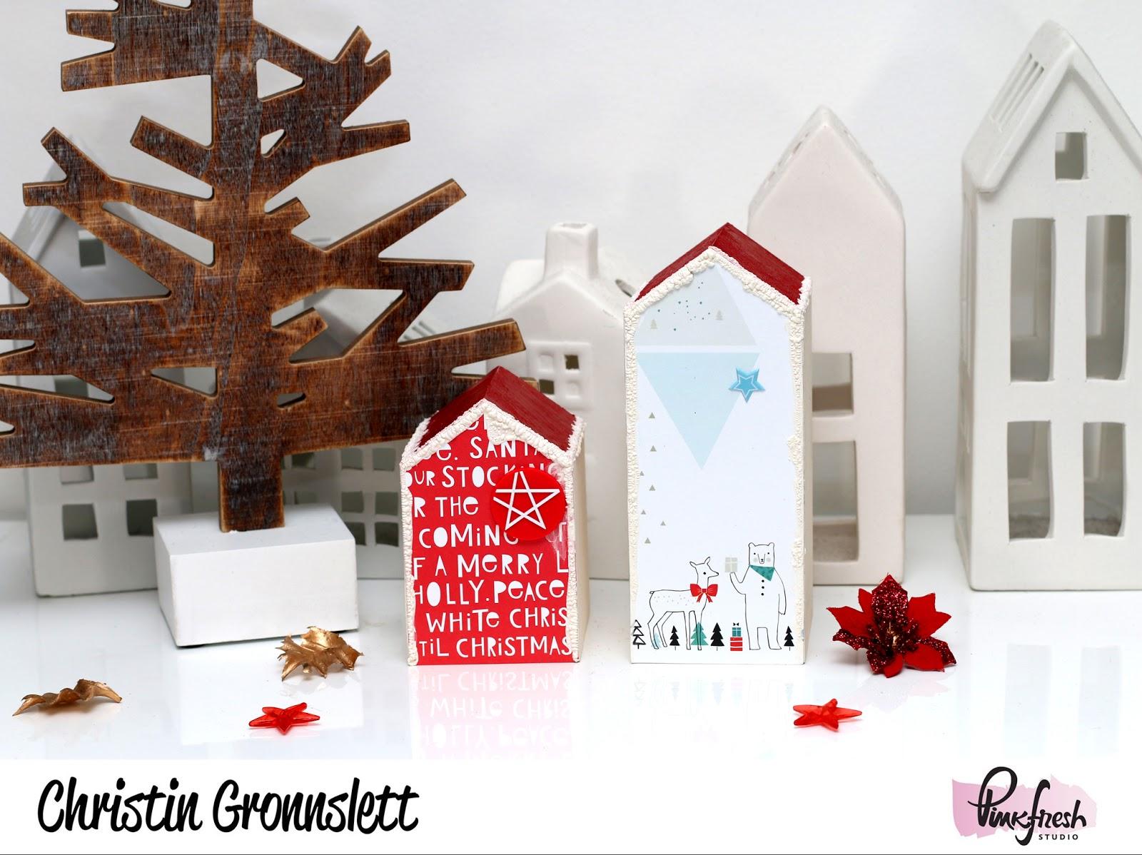 Christmas Houses With Christin Pinkfresh Studio