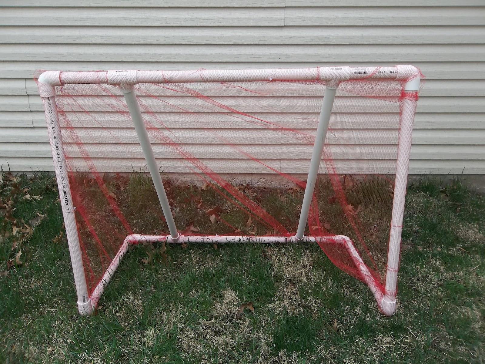 cheap and easy diy pvc pipe soccer goal six sisters u0027 stuff
