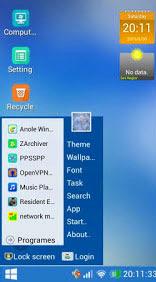 Cara mudah merubah tampilan Android menjadi seperti Windows di PC/Komputer 2 - Drio AC, Dokter Android