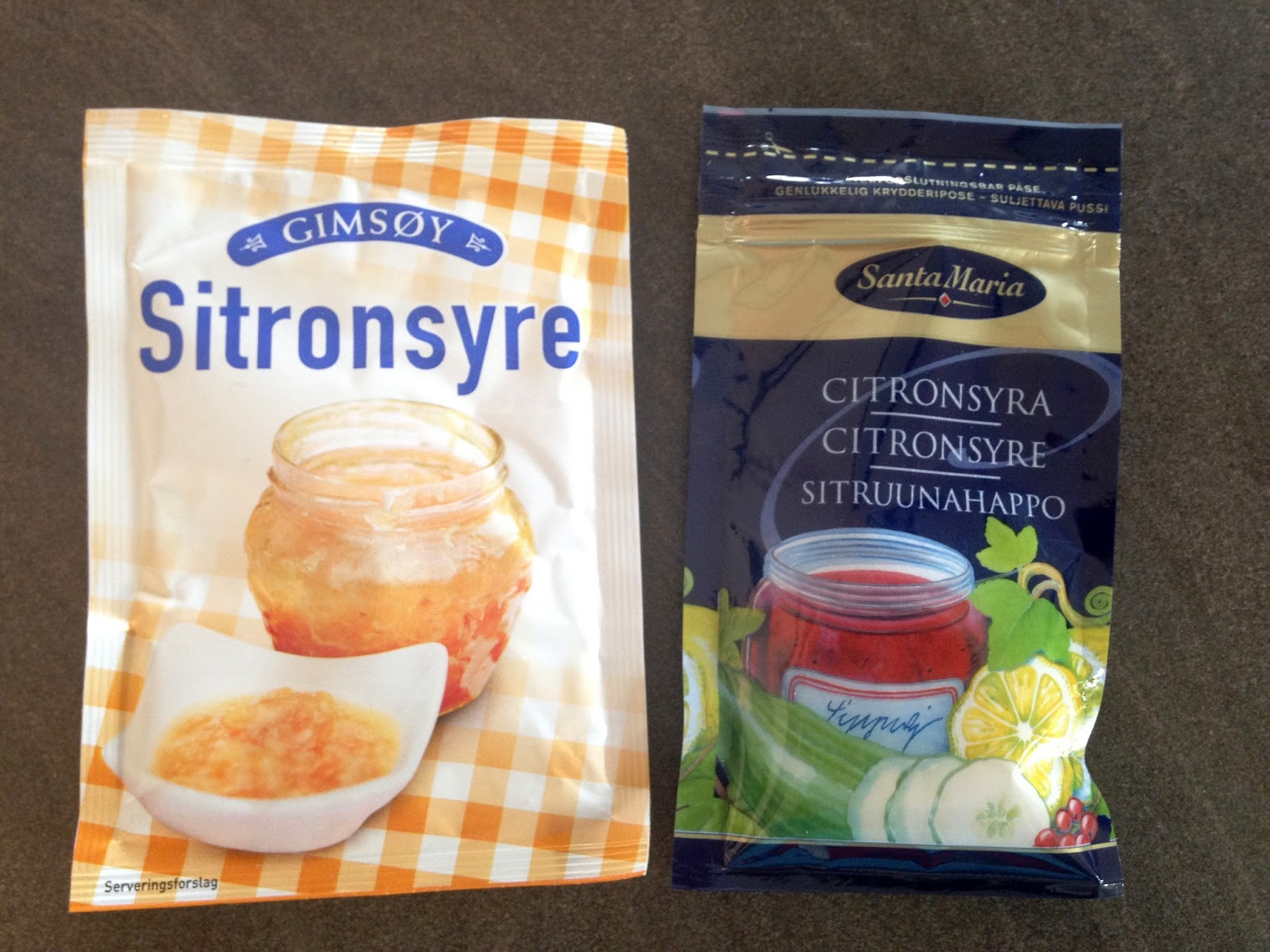 Sitronsyre blandingsforhold
