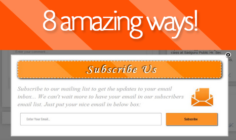 8 Ways to create a Subscribe form