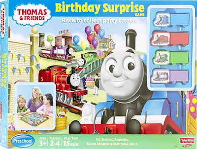 Birthday Surprise Thomas train and friends toy cartoon theme fun learning recreation board games