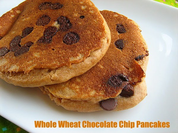 Meet Me in the Kitchen: Whole Wheat Chocolate Chip Pancakes