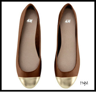 H&M Gold Toe Flats