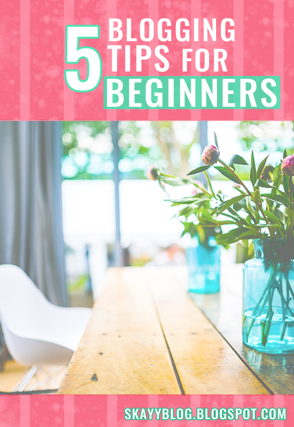 This is a post with five important blogging tips for begginers bloggers that can help increase pageviews , drive traffic and get noticed