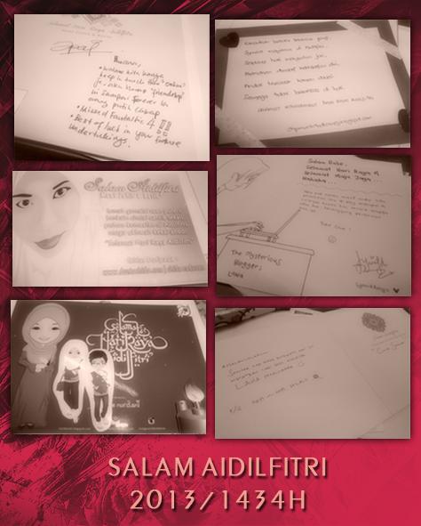 Contoh kad raya, sample kad selamat hari raya aidilfitri, kad salam aidilfitri, eid ul fitr cards 2013/1434H