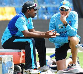 mahela with coach