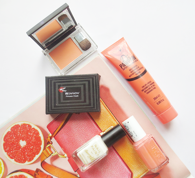 peach everyday makeup products style sunrise