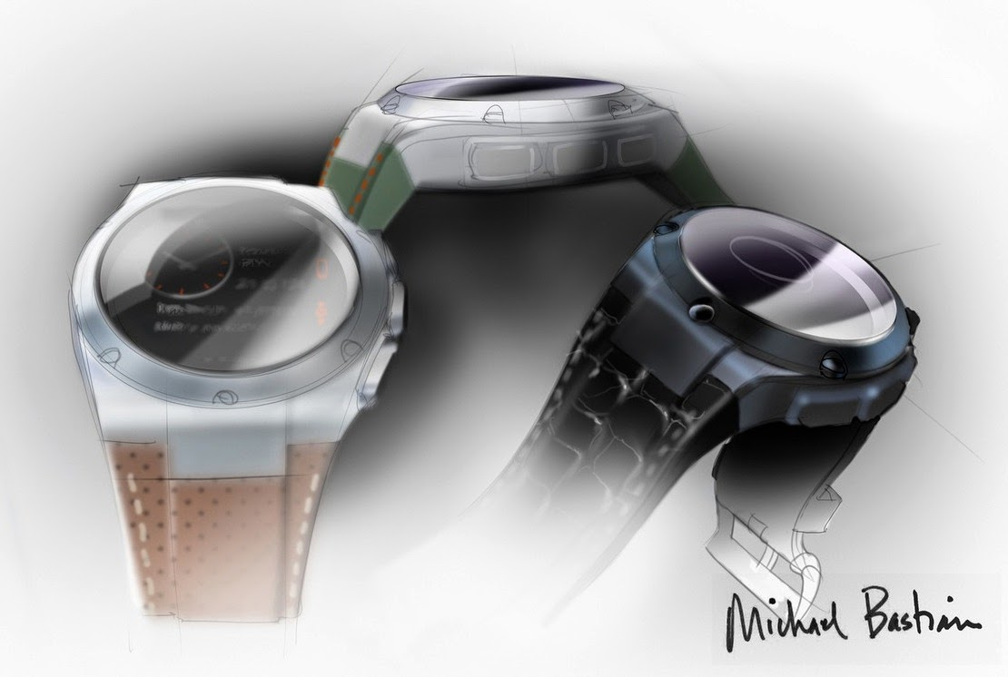 hp smartwatch, android watch, ios watch, michael bastian, luxury watch, luxury smartwatch, leather strap, stainless steel