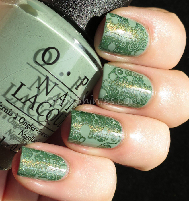 OPI Thanks A Windmillion with A England Dragon and MoYou-London Pro 06