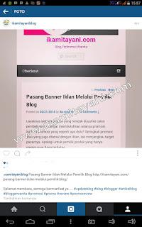 cara pakai instagram, cara promosi blog pakai instgram
