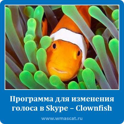 Программа для изменения голоса в Skype – Clownfish