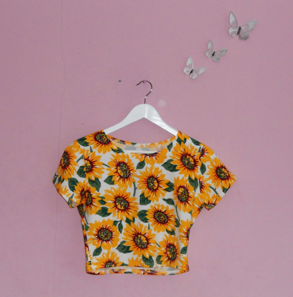 Summer Fashion Haul Sunflower LookBook Store Crop Top