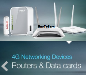 Buy 4G Data Cards and Routers starting Rs.1319 at Amazon : BuyToEarn