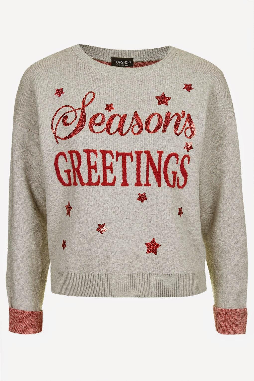 topshop christmas grey jumper,