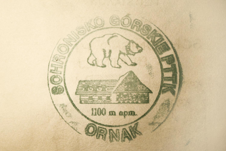 Schronisko Ornak - pieczątka