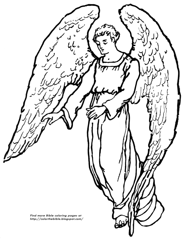 coloring pages of guardian angels - photo#5