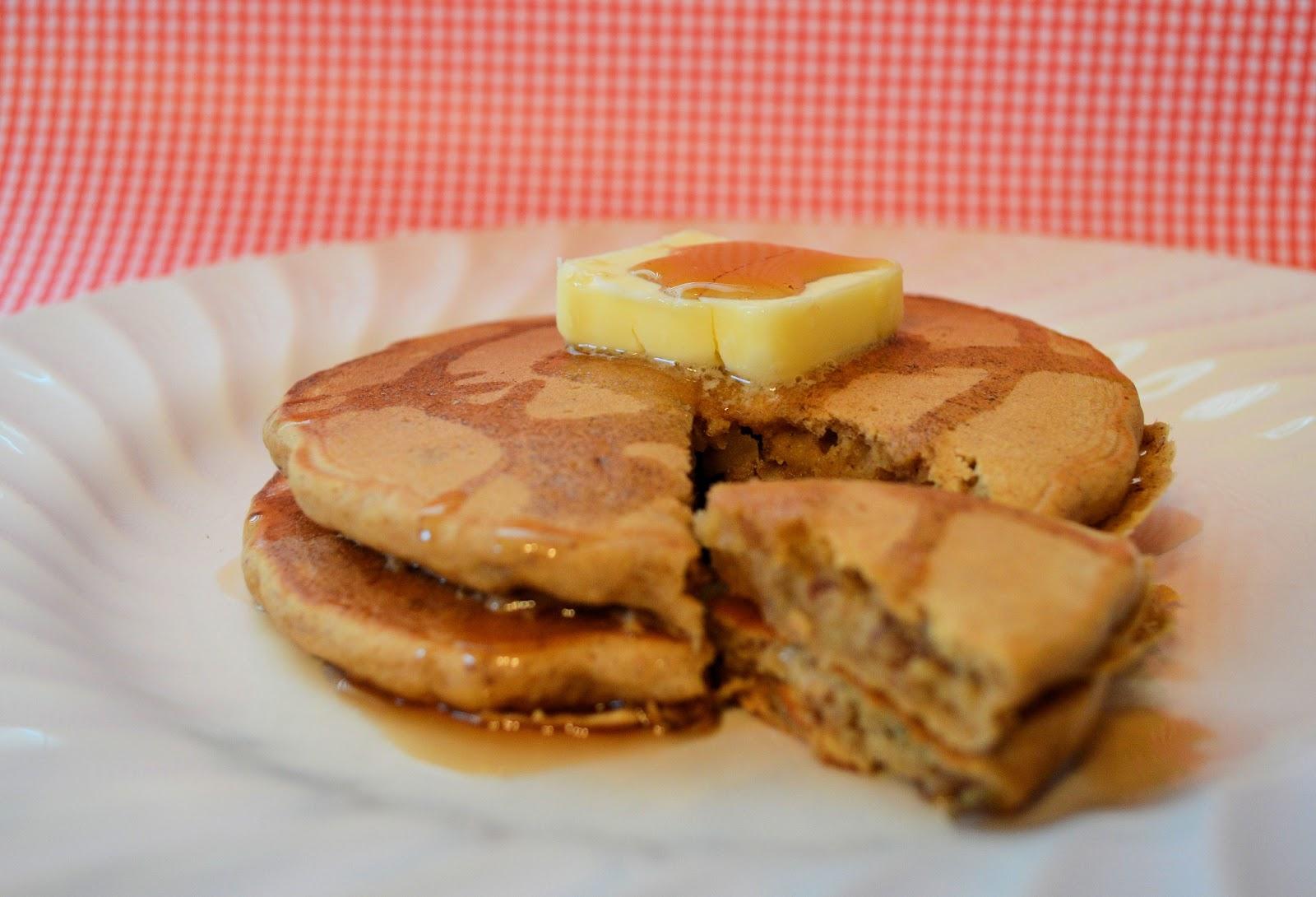 Little Mama Apple Cinnamon Pecan Pancakes