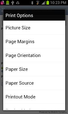 PrinterShare™ Mobile Print app screenshoot